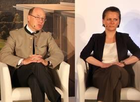 Christian Harisch und Andrea Morgner-Miehlke präsentieren das Projekt der Presse.